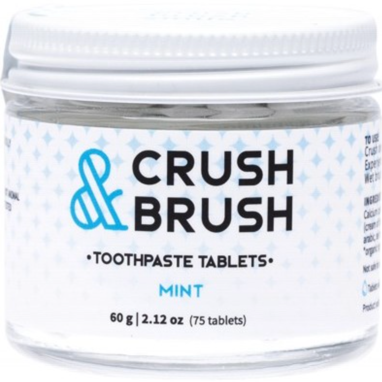 Nelson Naturals Crush & Brush Toothpaste Tablets - Mint 60g