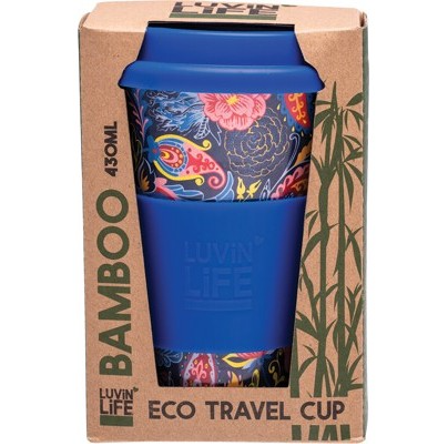 Luvin Life Bamboo Eco Travel Cup 430ml - Paisley