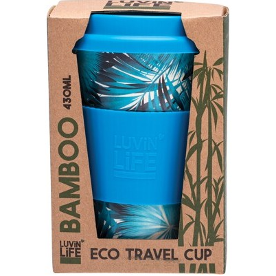 Luvin Life Bamboo Eco Travel Cup 430ml - Palms