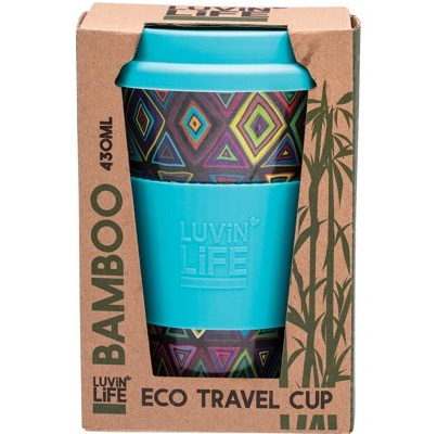 Luvin Life Bamboo Eco Travel Cup 430ml - Retro