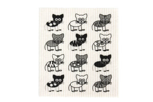 Retro Kitchen 100% Biodegradable Dish Cloth Cat