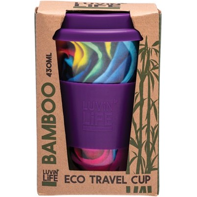 Luvin Life Bamboo Eco Travel Cup 430ml - Rose