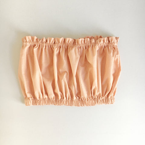 peachy pink cropped bandeau