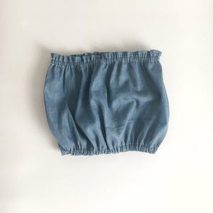 chambray cropped bandeau