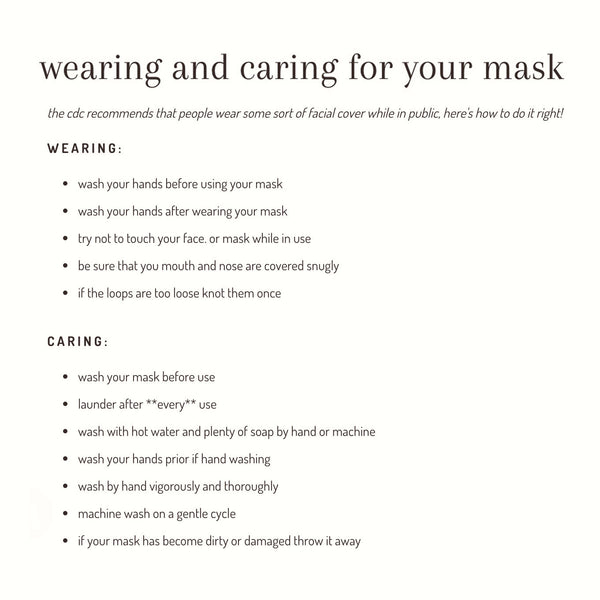 fabric mask - assorted
