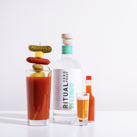 Ritual Zero Proof Gin Alternative Non Alcoholic Gin Bloody Mary