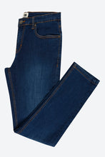 Load image into Gallery viewer, Dark Blue Slim-Fit Stretch Jean