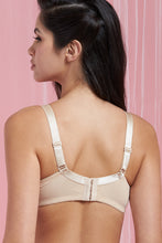 Load image into Gallery viewer, Black/Beige Plain Full-Cup Non-Padded Bra (2-Pack)