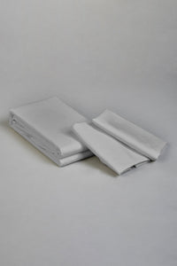 Grey Flat Sheet Set (King Size)