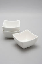 Load image into Gallery viewer, White Porcelain Square Bowl Set (3 Piece)