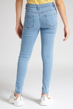 Load image into Gallery viewer, Blue Basic Skinny Jean