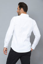 Load image into Gallery viewer, White Slim-Fit Long Sleeve Birdseye Shirt