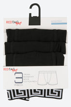 Load image into Gallery viewer, Black Plain Jacquard Waistband Trunks (3-Pack)