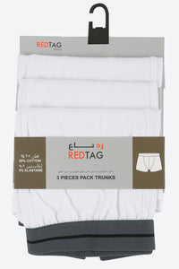White Plain Trunks (3-Pack)