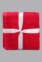Load image into Gallery viewer, Fuchsia Soft Cotton Face Towel Set (4 Piece)