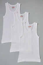 Load image into Gallery viewer, White Plain Vests (3-Pack)