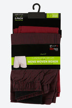 Load image into Gallery viewer, Red Check Woven Boxers (2-Pack)