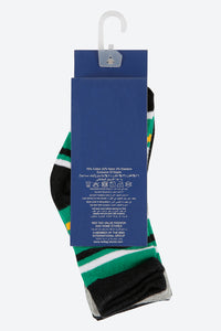 Assorted Jacquard Design Mid-Length Socks (4-Pack)