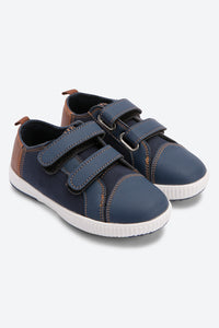 Navy Colour Block Sneakers