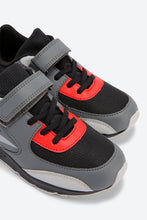 Load image into Gallery viewer, Grey Colour Block Velcro Trainers