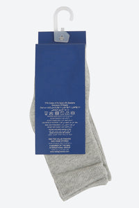 Grey 4 Pack Cotton Rich Mid-Length Socks