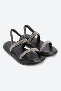 Black Heatseal Sandal