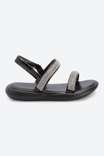 Load image into Gallery viewer, Black Heatseal Sandal