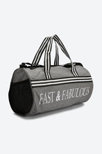 Load image into Gallery viewer, Grey Fast And Fabulous Print Holdall