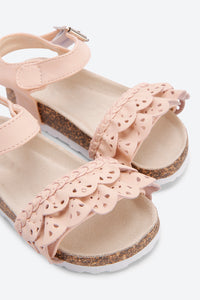 Pink Cork Sole Sandal