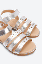 Load image into Gallery viewer, Silver Back Strap Sandal