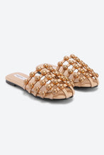 Load image into Gallery viewer, Beige Stud Trim Mule
