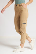 Load image into Gallery viewer, Beige Jogger-Style Jean