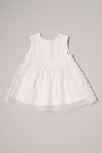 Load image into Gallery viewer, White Broderie Anglaise Sleeveless Dress