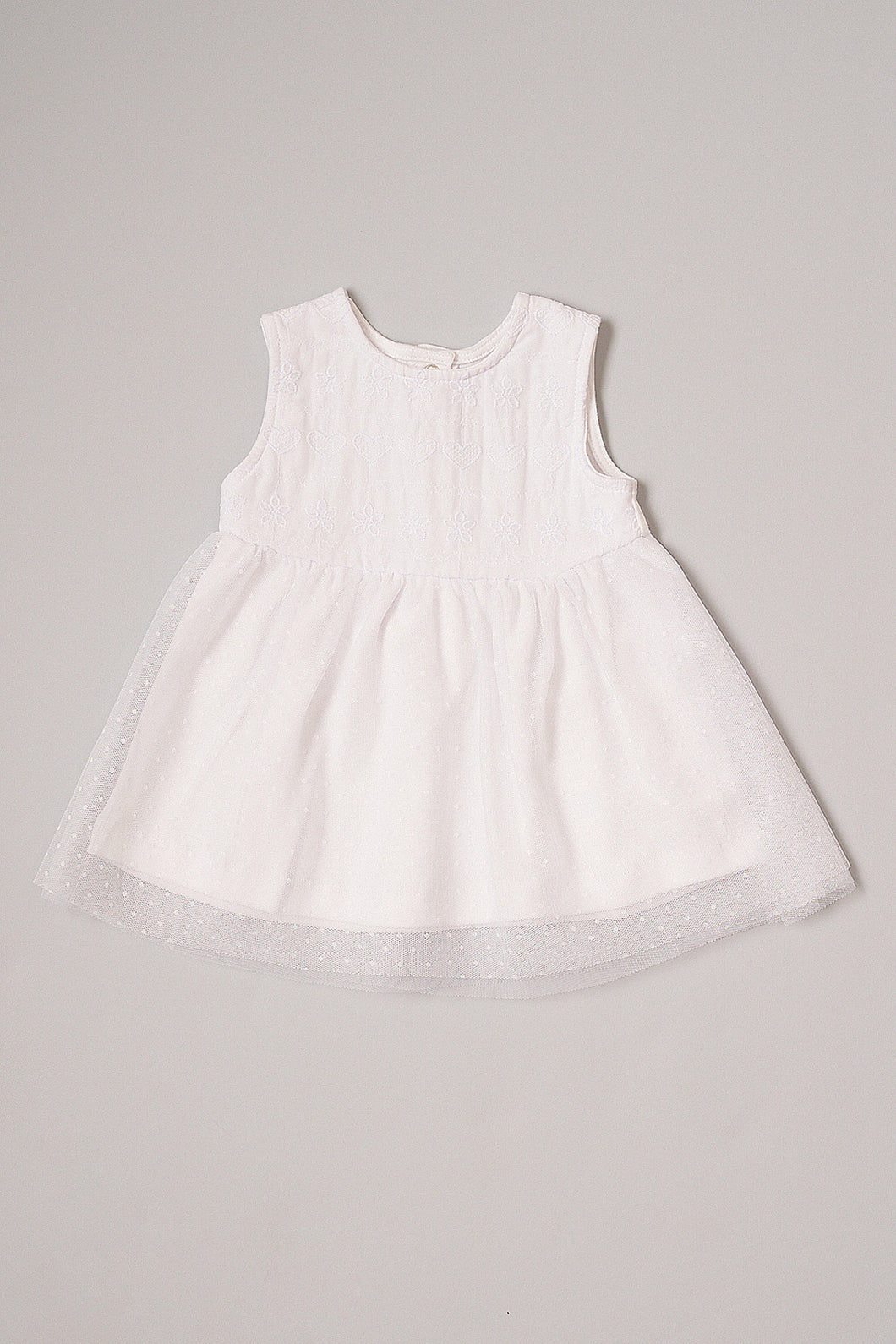 White Broderie Anglaise Sleeveless Dress