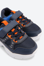 Load image into Gallery viewer, Navy Chunky Trainers