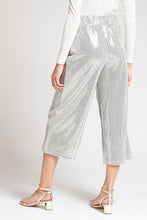 Load image into Gallery viewer, Silver Metallic Shimmery Culottes