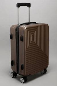 "Brown Geometric Design Case - Cabin (20"")"