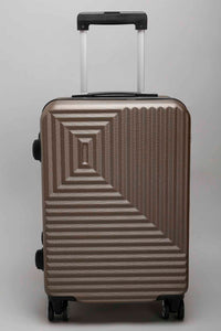 "Brown Geometric Design Case - Large (28"")"