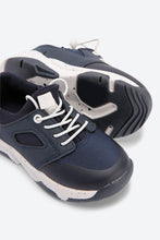 Load image into Gallery viewer, Navy With Elastic Gore Sneaker