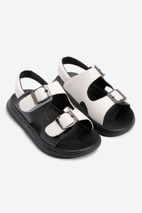 Black & White Casual Sandals
