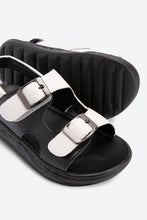 Load image into Gallery viewer, Black & White Casual Sandals