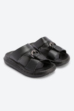Load image into Gallery viewer, Black Traditional Slide Sandals