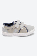 Load image into Gallery viewer, Grey Canvas Velcro Sneakers