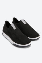 Load image into Gallery viewer, Black Slip On Trainers