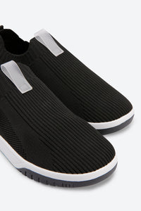 Black Slip On Trainers