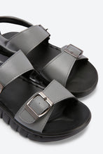 Load image into Gallery viewer, Grey Backstrap Comfort Sandals