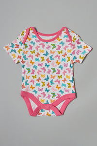 Assorted Butterfly Print Bodysuits (5 Pack)