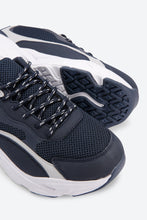 Load image into Gallery viewer, Navy Mesh Chunky Sneakers