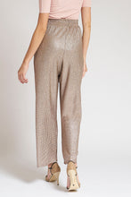 Load image into Gallery viewer, Gold Plisse Wide Leg Trousers