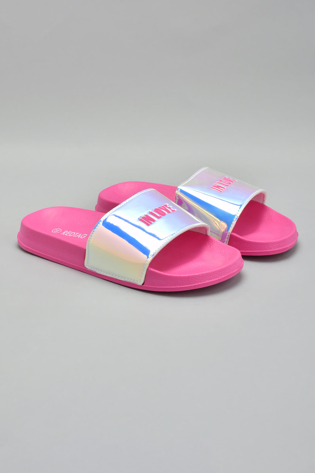 Fuchsia Flip-Flop With Metallic Upper
